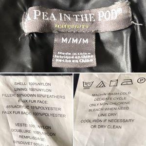 A Pea in the Pod Jackets & Coats - Maternity Puffer Coat Down Black hood A Pea In Pod